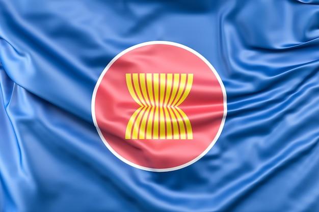 Flagge der vereinigung der südostasiatischen nationen (asean)