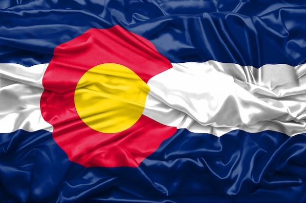 Flagge des bundesstaates colorado der vereinigten staaten von amerika