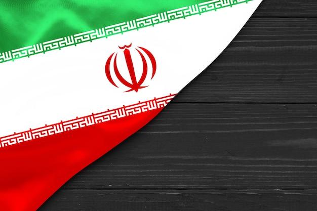 Flagge des iran kopierraum