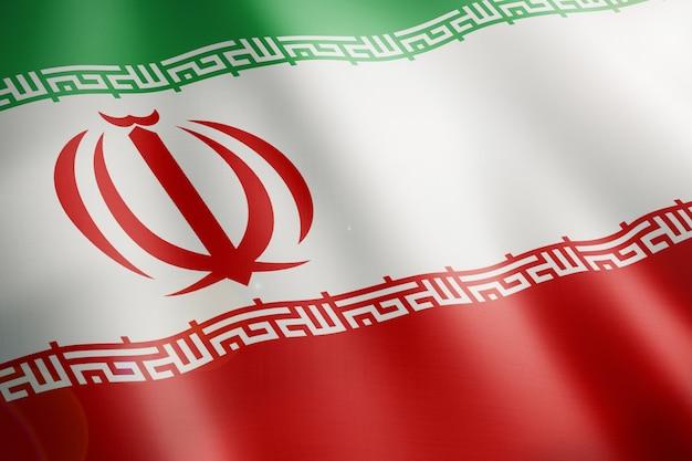 Flagge des iran weht in der schleife
