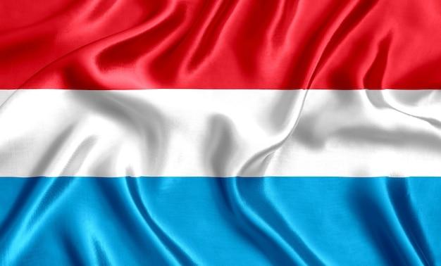 Flagge des luxemburger seiden-nahaufnahmehintergrunds