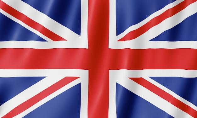 Flagge des vereinigten königreichs. illustration der britischen uk flagge winken.