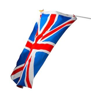 Flagge des vereinigten königreichs lokalisiert auf weiß