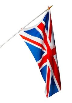 Flagge des vereinigten königreichs lokalisiert auf weißem hintergrund