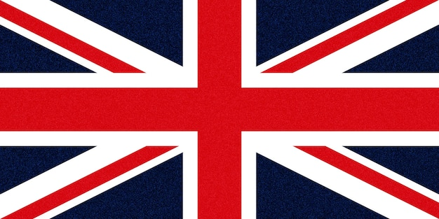 Flagge des vereinigten königreichs (uk) aka union jack glitzernde sprenkel