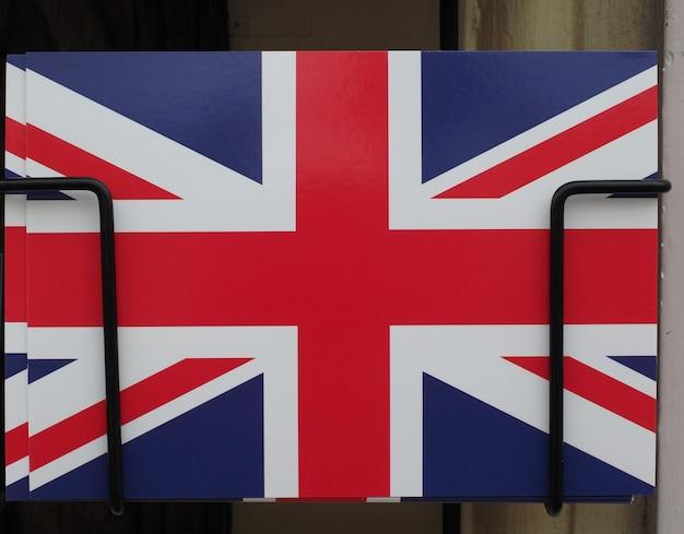 Flagge des vereinigten königreichs (uk) alias union jack-postkarte