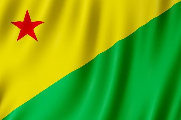 Flagge von acre staat in brasilien