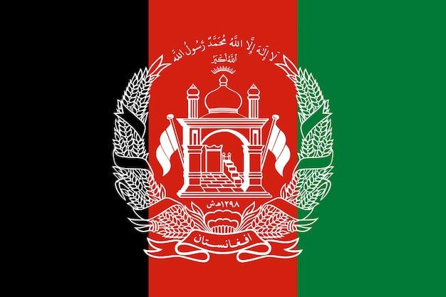 Flagge von afghanistan. illustration der afghanischen flagge.