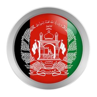 Flagge von afghanistan rund als knopf