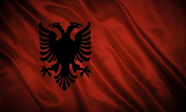 Flagge von albanien hintergrund