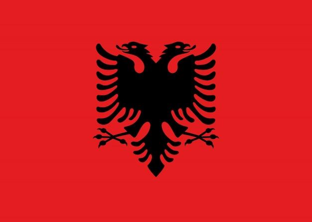 Flagge von albanien. illustration der albanischen flagge.