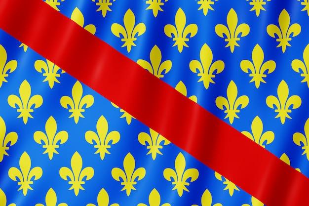 Flagge von allier, frankreich