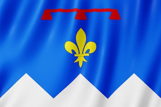 Flagge von alpes-de-haute-provence, frankreich