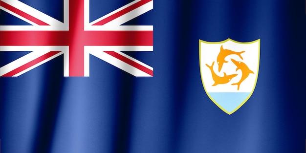 Flagge von anguilla - 1990 angenommen.