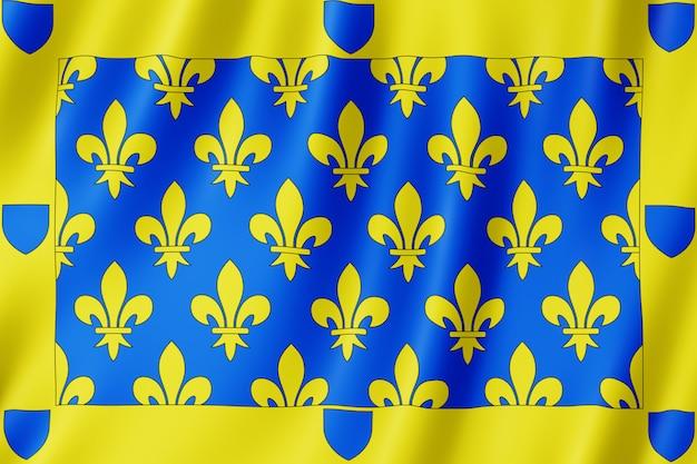 Flagge von ardeche, frankreich