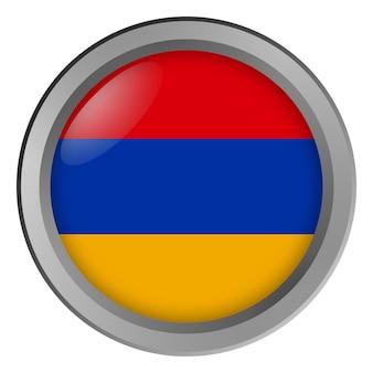 Flagge von armenien rund als knopf