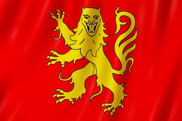 Flagge von aveyron, frankreich