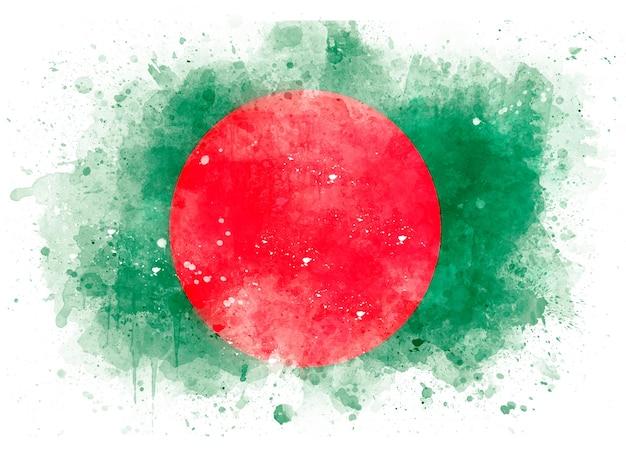 Flagge von bangladesch als aquarellillustration