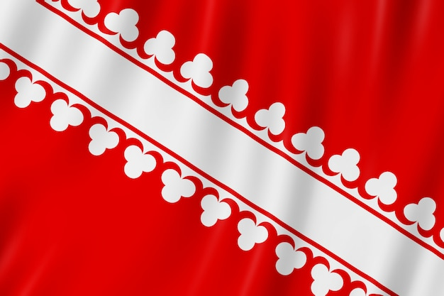 Flagge von bas-rhin, frankreich