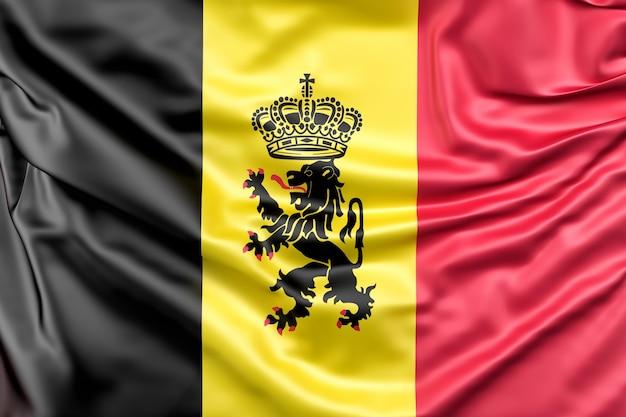 Flagge von belgien mit fähnrich