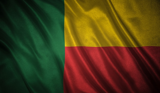 Flagge von benin hintergrund