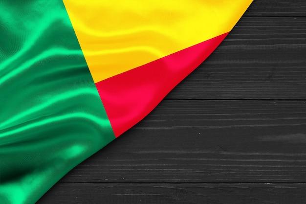 Flagge von benin kopierraum