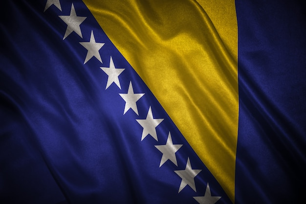 Flagge von bosnien und herzegowina hintergrund