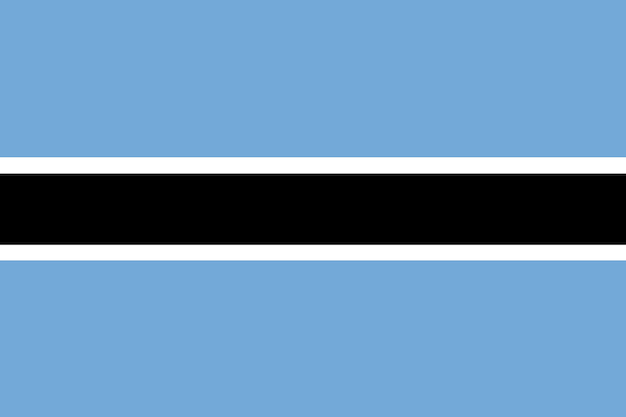 Flagge von botswana