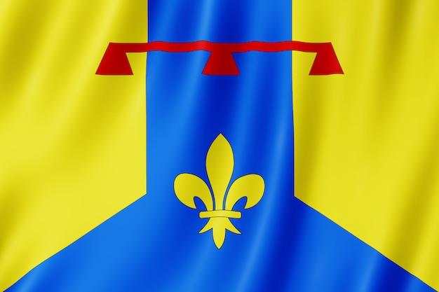 Flagge von bouches-du-rhône, frankreich