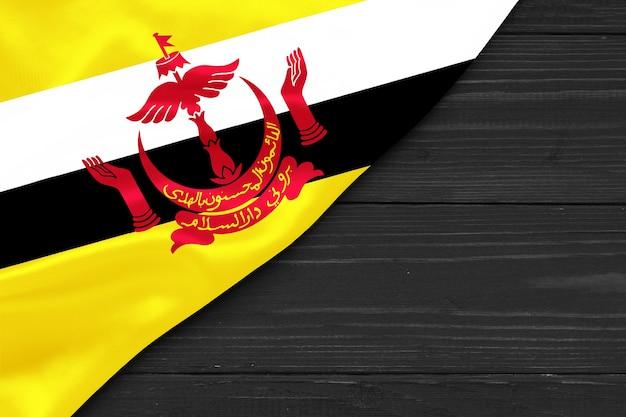 Flagge von brunei kopierraum