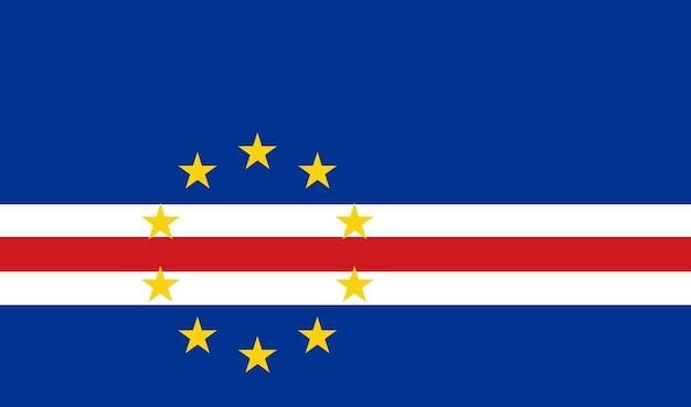 Flagge von cabo verde