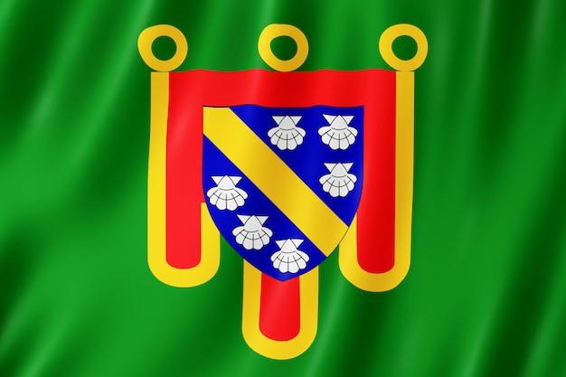 Flagge von cantal, frankreich