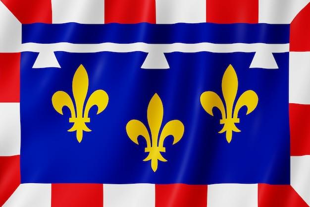 Flagge von centre-val de loire, frankreich