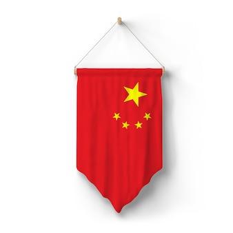 Flagge von china hängt an der wand