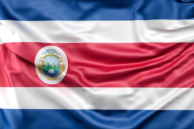 Flagge von costa rica mit fähnrich