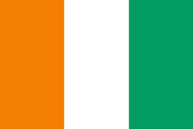 Flagge von côte d'ivoire
