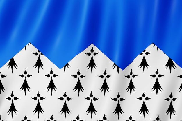 Flagge von côtes-d'armor, frankreich