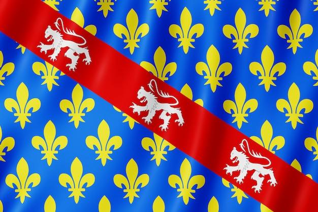 Flagge von creuse, frankreich