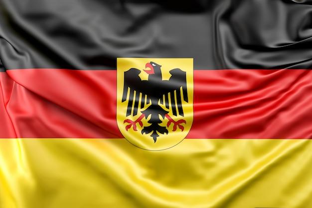 Flagge von deutschland mit wappen