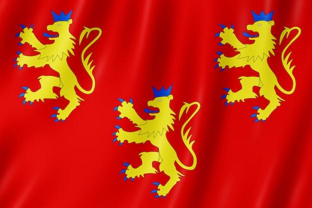 Flagge von dordogne, frankreich