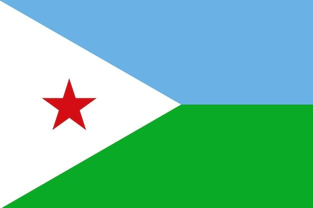 Flagge von dschibuti