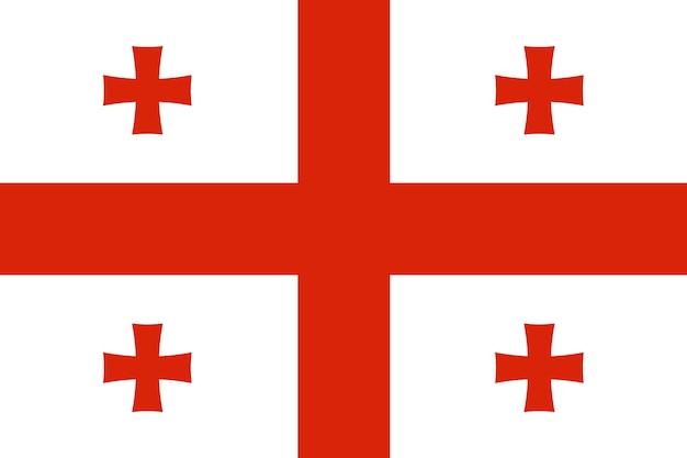 Flagge von georgien