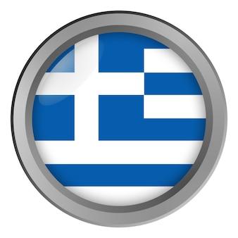 Flagge von griechenland rund als knopf