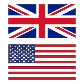 Flagge von großbritannien und den vereinigten staaten