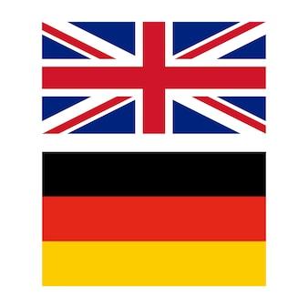 Flagge von großbritannien und deutschland