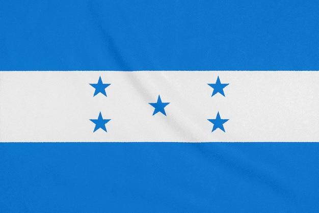Flagge von honduras auf strukturiertem gewebe.
