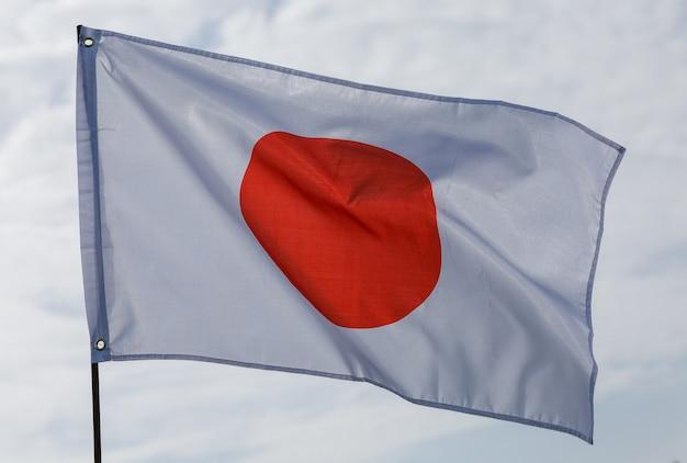 Flagge von japan am fahnenmast