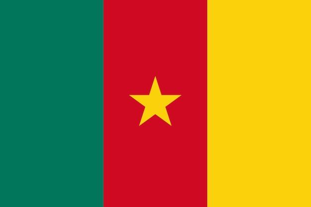Flagge von kamerun