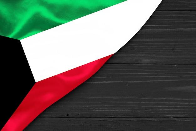Flagge von kuwait kopienraum