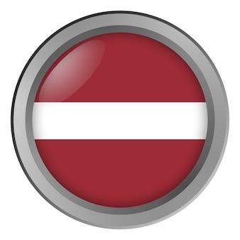 Flagge von lettland rund als knopf